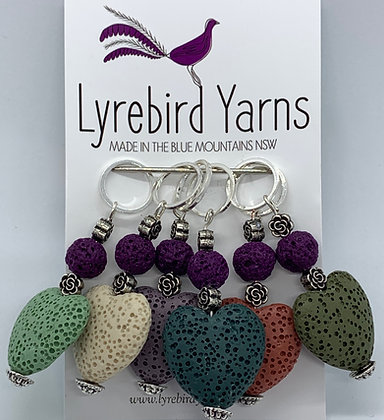 Beaded stitch markers