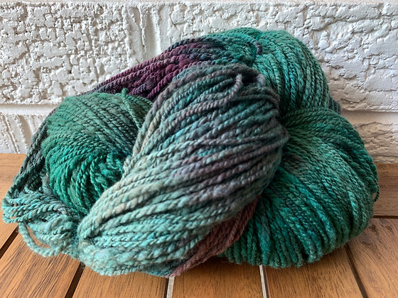 Hand dyed merino and silk