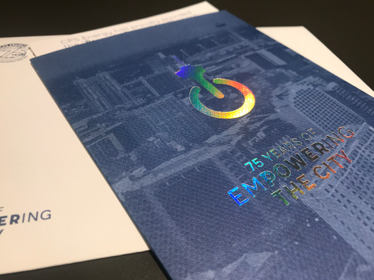 Invitation with holographic ink