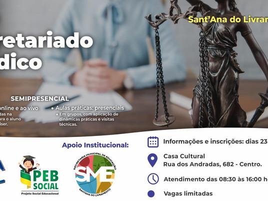 Livramento receberá curso de Secretariado Jurídico