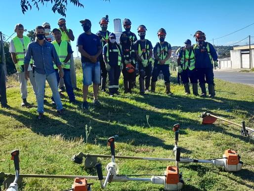 1ª empreitada de limpeza urbana da Fronteira conta com equipes de Livramento e Rivera
