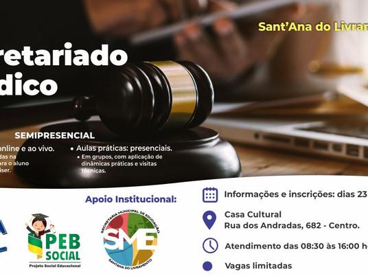 Oportunidade: Curso para Secretariado Jurídico será realizado em Santana do Livramento