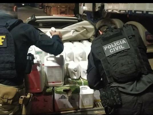 Homem é preso por contrabando de agrotóxicos vindos do Uruguai, em Livramento