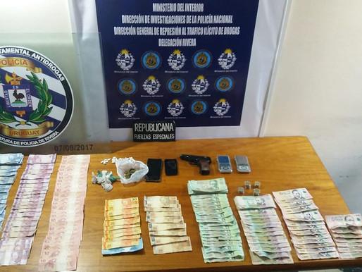 Tres menores detenidos por venta de drogas en Rivera