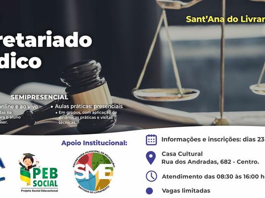 Oportunidade: Curso para Secretariado Jurídico será realizado em Livramento