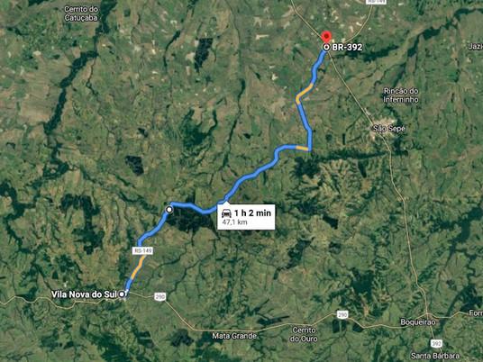 Desvio pela RS-149 deverá ser alternativa para ir à Santa Maria e Porto Alegre em ônibus ou caminhão