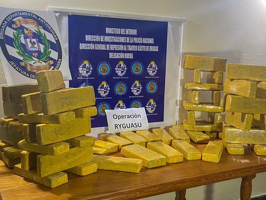 112 ladrillos de marihuana fueron incautados en Rivera en las últimas 24hs