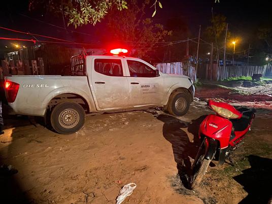 Moto es incautada luego de rapiña en Rivera