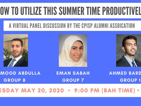 CPISP Alumni Association holds a virtual panel session on productivity techniques