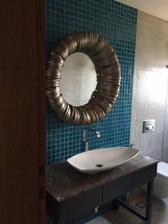 industrial decor mirror bathroom bangalo