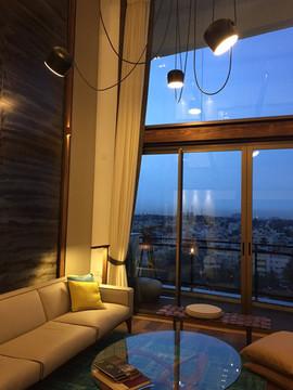 industrial interior design mood lighting