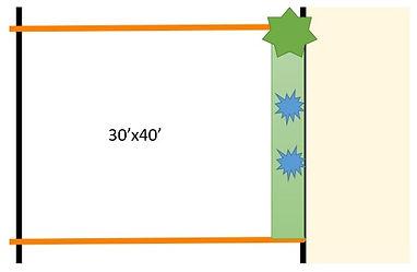 30'x40' residential plot landscape desig