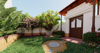 Adarsh Villa - kerala style landscape