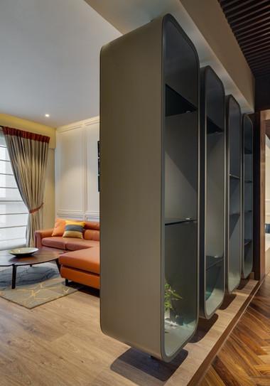 Display unit interiors Mid-Century Moder
