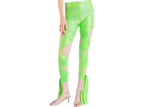 GREEN WRAP AROUND LEGGINGS
