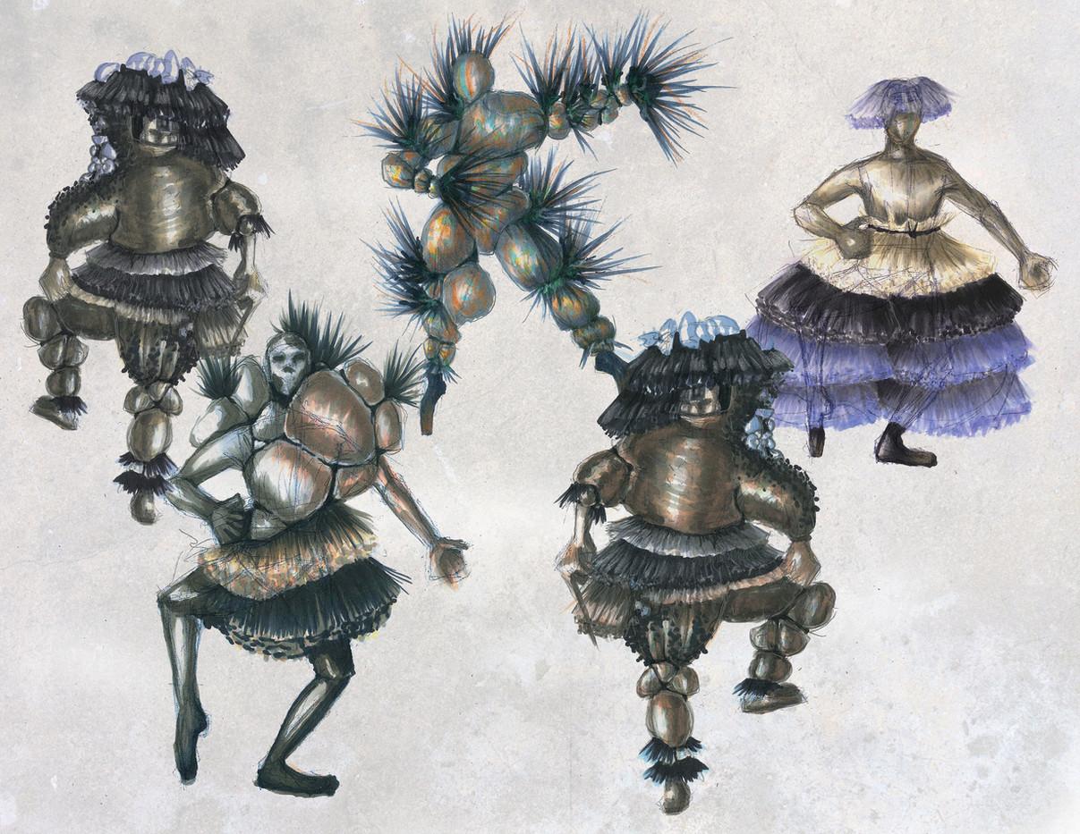 Sorcerors petrified minions