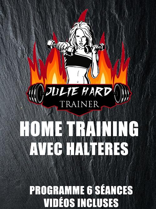 ENTRAINEMENT @HOME AVEC HALTÈRES