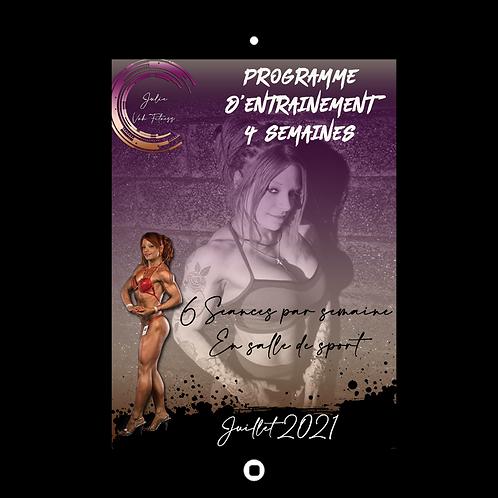 ENTRAINEMENT EN SALLE DE SPORT - JUILLET 2021