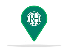 Icon of map pin with Risdon Hosegood Solicitors logo and brand greens