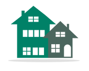 Icon of houses in Risdon Hosegood Solicitors brand Greens