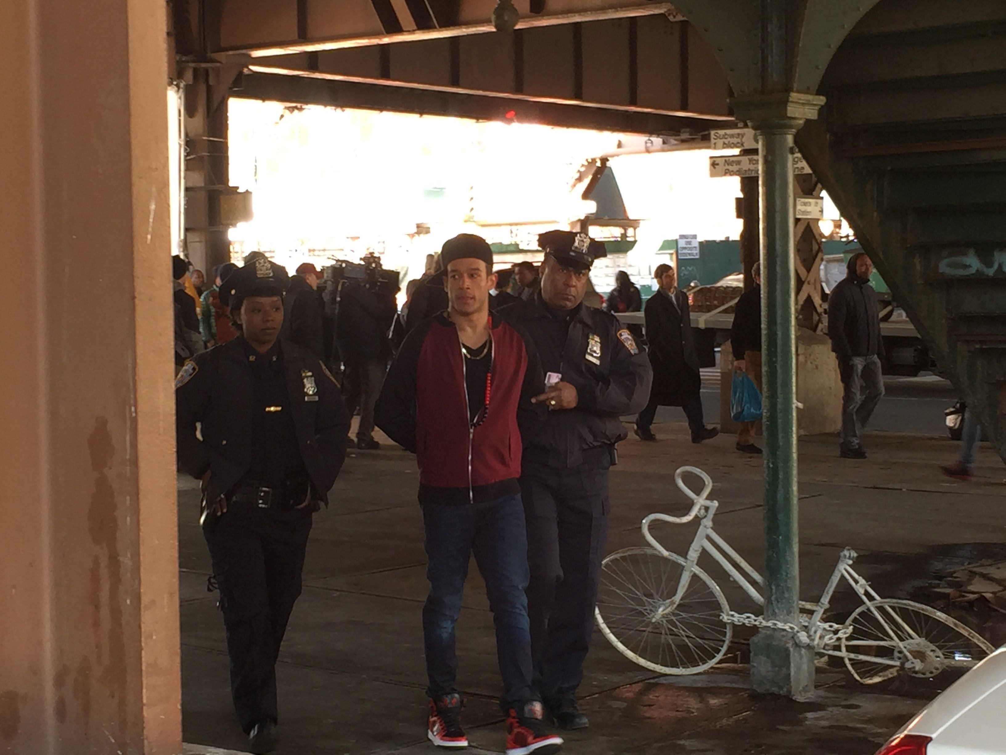 On set of Blue Bloods.