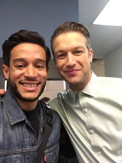 W/ Peter Scanavino on Law and Order SVU set.