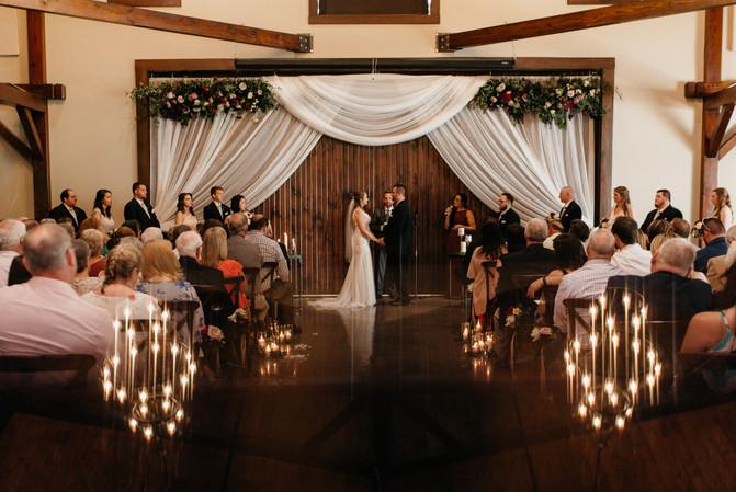 Indoor Barn Ceremony