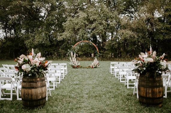Beautiful Rustic Wedding Aisle