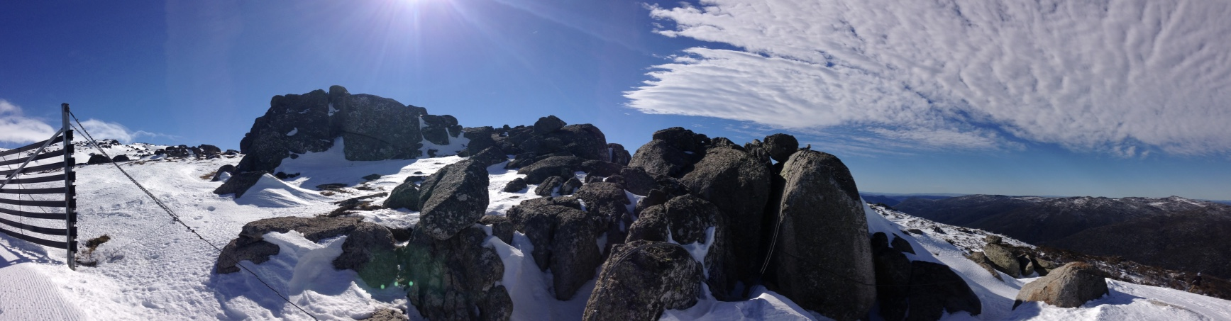Thredbo from the top in winter