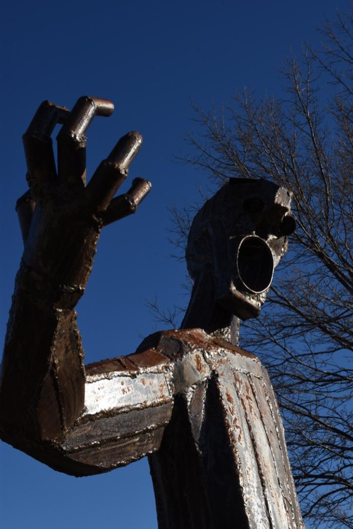 Jindabyne sculptured man