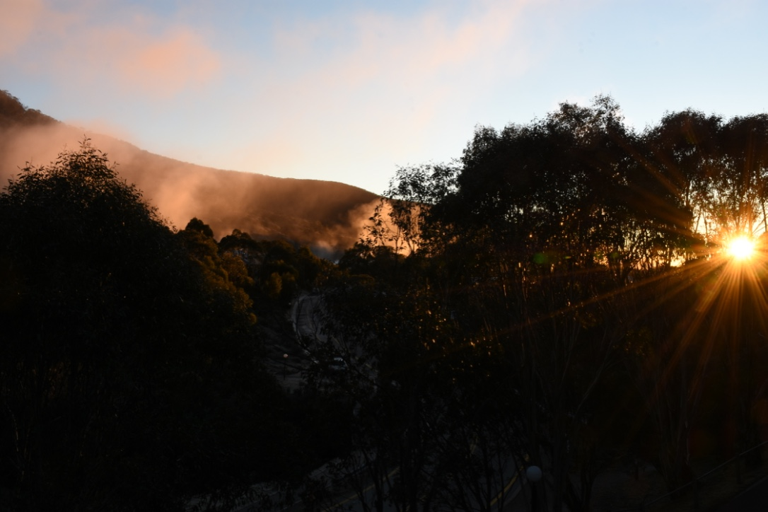 Early morning sun from the balcony of Tombarra 4B