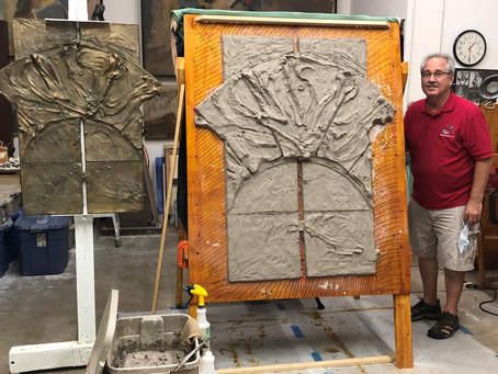 STC Public Library to Feature Bronze Relief by Local Sculptor, Larry Johnson, When It Reopens