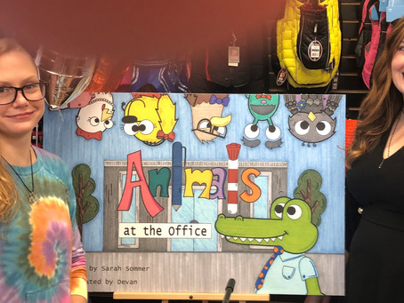"""Local Author & Illustrator Launch Children's Book: """"Animals at the Office"""""""
