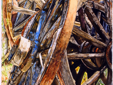 An Eye for the Weathered and Well-Used  Brings Charm to Carole Wilson's Realistic Watercolors