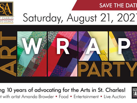 St. Charles Arts Council Celebrates a Decade with ART WRAP PARTY
