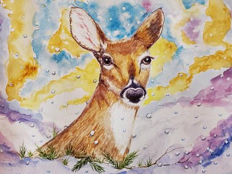 Fermi Lab Virtual Art Exhibit to include Kathi Kuchler's Watercolor in Feb. 2021