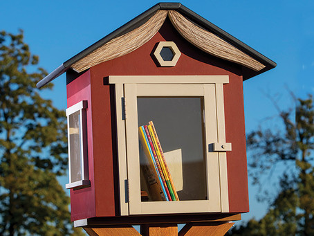 Turn Your Little Outdoor Lending Library Into a Tiny Art Gallery...read how!