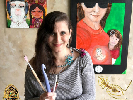 Versatile Metal Crochet Artist Uses  Peruvian Technique From Her Homeland for Unique Dimensionality