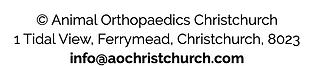 Contact Animal Orthopaedics Christchurch