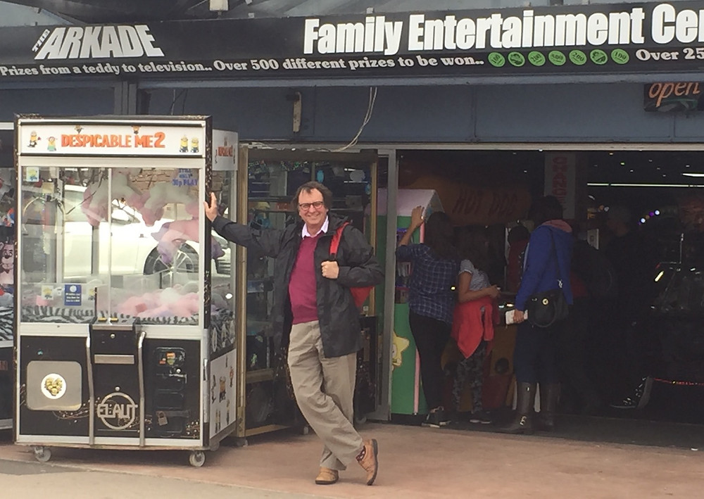 Off to Minehead for family holiday - 25 of us! Spotted hanging our outside amusement arcade for meeting up with old friend.
