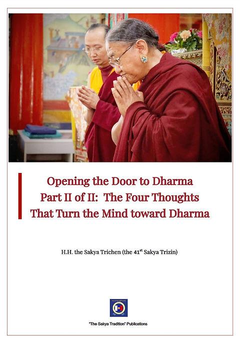 Opening the Door to Dharma Part II of II