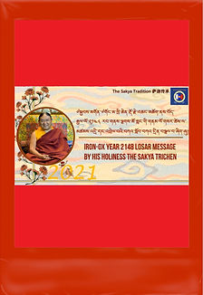 2021 Losar Message by HH the Sakya Trich