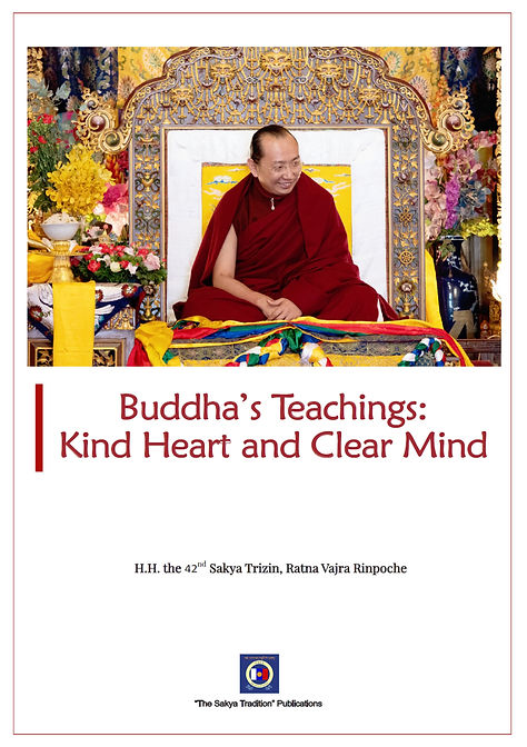 Buddha Teachings Kind Heart and Clear Mi