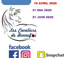 Calendrier concours 2020 !