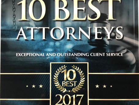 Koutsouris One of New Jersey's Ten Best DWI Attorneys by American Institute of DUI/DWI Attorneys