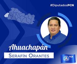 DIPUTADO ELECTO POR AHUACHAPÁN SERAFIN ORANTES