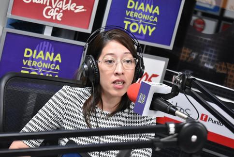 Carmen Aída Lazo en entrevista en Diana Verónica y Tony.