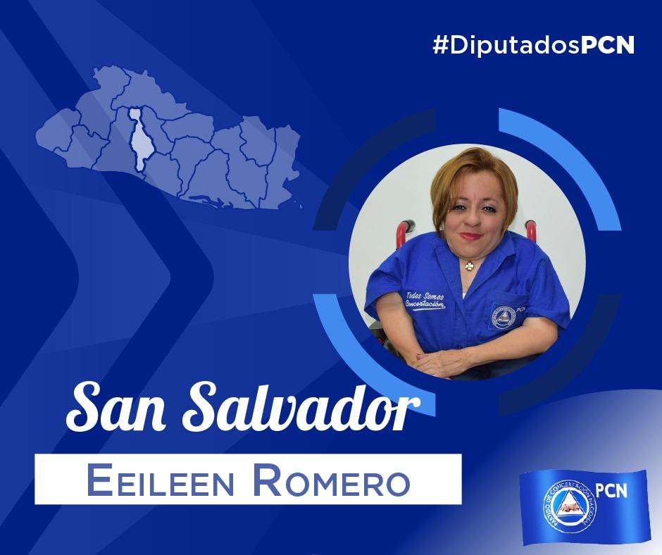 DIPUTADA ELECTA POR SAN SALVADOR EEILEN ROMERO