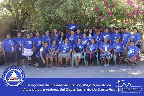 Programa de Emprendedurismo y Mejoramiento de Vivienda llega al Municipio de Metapán.