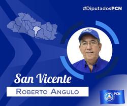 DIPUTADO ELECTO POR SAN VICENTE ROBERTO ANGULO